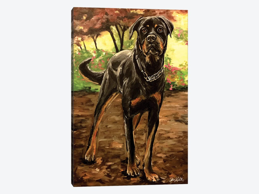 Rottweiler by Hippie Hound Studios 1-piece Canvas Art Print