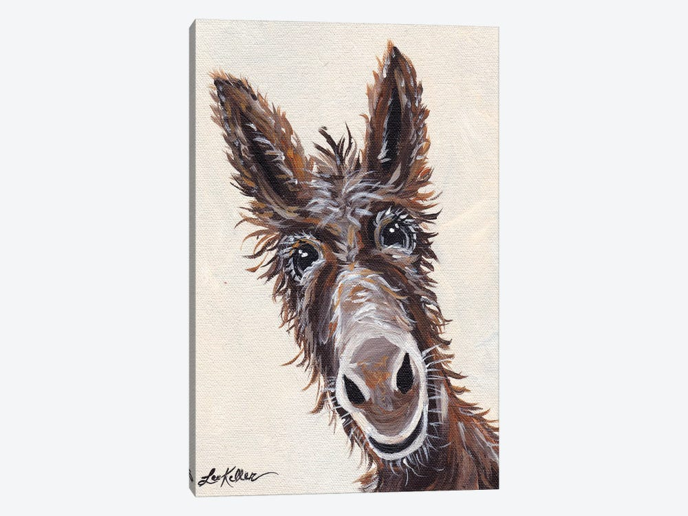 Rufus The Donkey On Cream by Hippie Hound Studios 1-piece Canvas Print