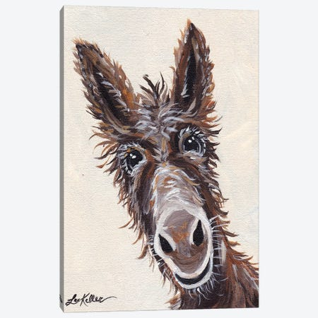 Rufus The Donkey On Cream Canvas Print #HHS67} by Hippie Hound Studios Canvas Print
