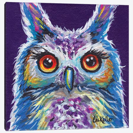 Sasha The Owl Canvas Print #HHS69} by Hippie Hound Studios Canvas Artwork