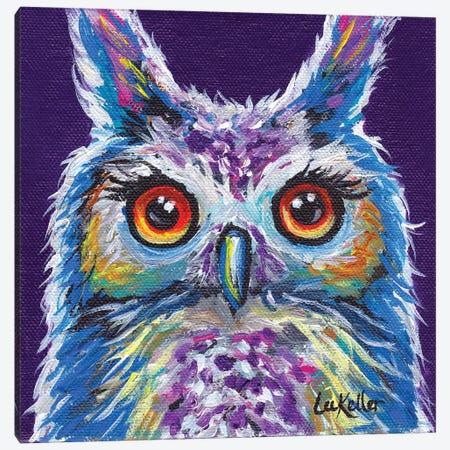 Sasha The Owl Canvas Print #HHS69} by Hippie Hound Studios Canvas Artwork