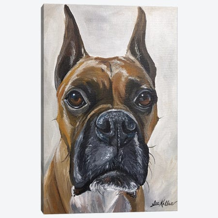 Boxer, So Serious  Canvas Print #HHS6} by Hippie Hound Studios Canvas Print