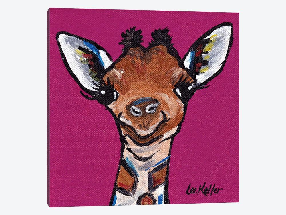 Tiny The Giraffe by Hippie Hound Studios 1-piece Canvas Art