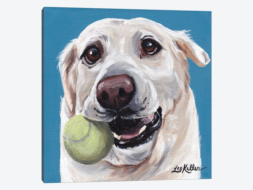 Yellow Lab With Ball by Hippie Hound Studios 1-piece Canvas Art