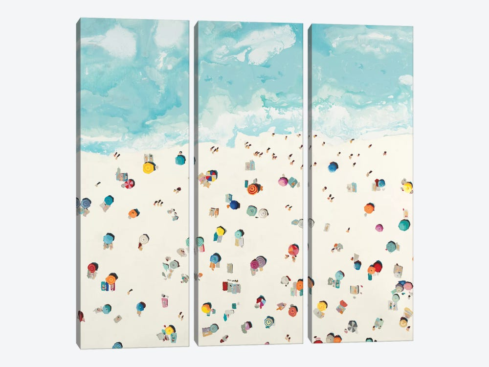 Beach Days by Randy Hibberd 3-piece Canvas Art
