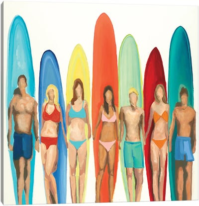 Surfers Canvas Art Print