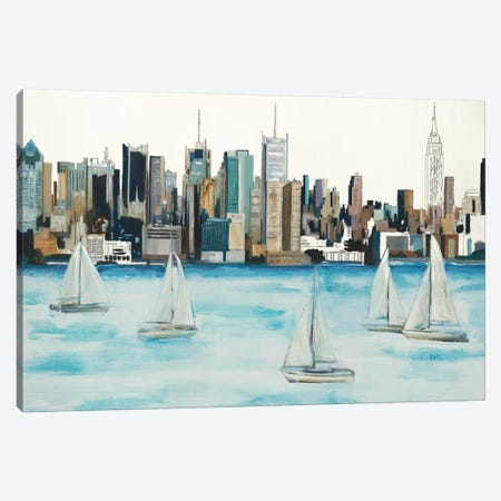Boat City Canvas Print #HIB106} by Randy Hibberd Canvas Wall Art