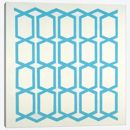 Pattern Blue Canvas Print #HIB112} by Randy Hibberd Canvas Wall Art