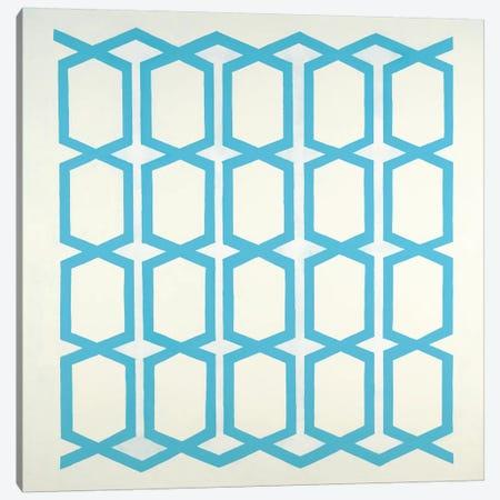Pattern Blue Canvas Print #HIB112} by Randy Hibberd Canvas Wall Art