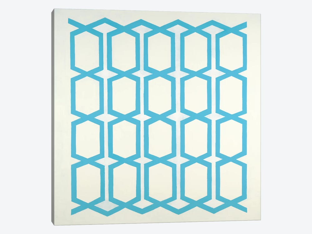 Pattern Blue by Randy Hibberd 1-piece Canvas Artwork