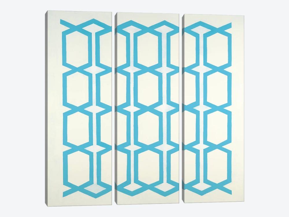 Pattern Blue by Randy Hibberd 3-piece Canvas Artwork