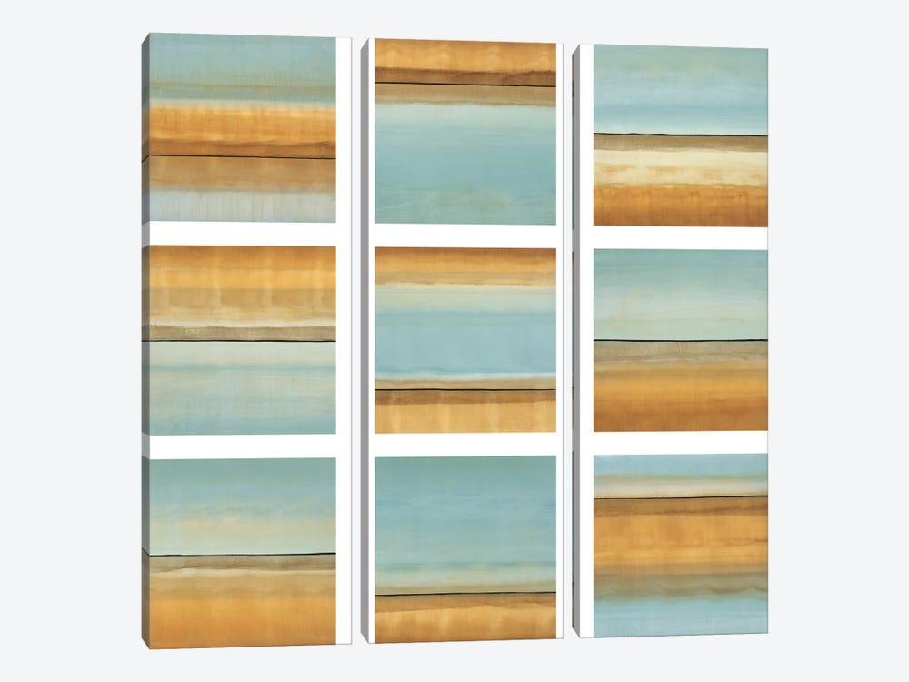 Blue Afternoon I by Randy Hibberd 3-piece Canvas Art
