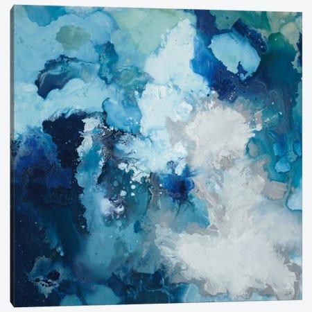 Blue Flo Canvas Print #HIB14} by Randy Hibberd Canvas Wall Art