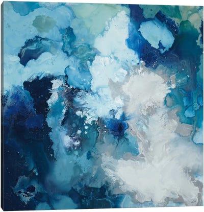 Blue Flo Canvas Art Print