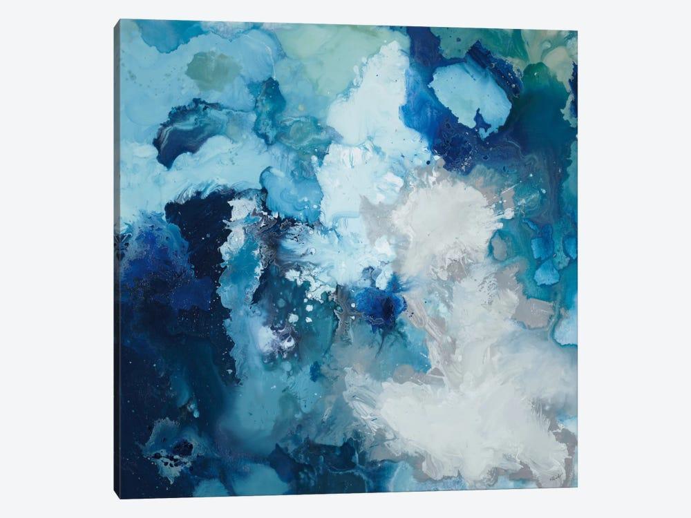 Blue Flo by Randy Hibberd 1-piece Canvas Art Print