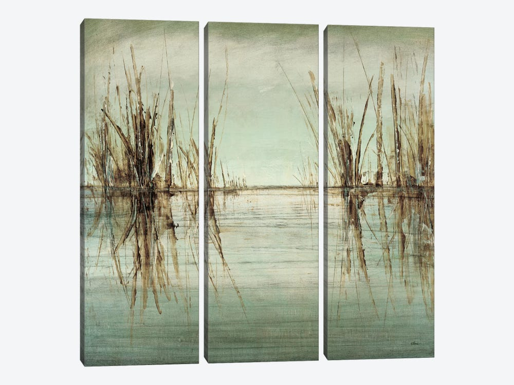 Blue Tranquility I by Randy Hibberd 3-piece Canvas Wall Art