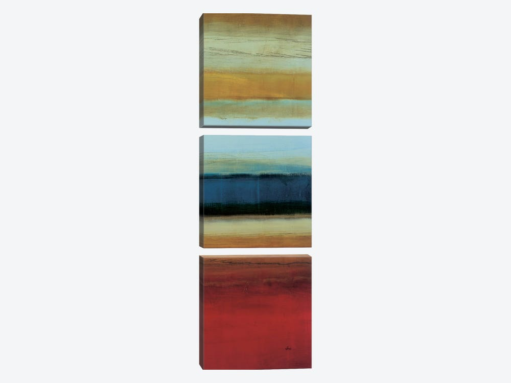 Color Line 2 by Randy Hibberd 3-piece Canvas Art