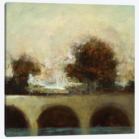 Foggy Bridge I Canvas Print #HIB28} by Randy Hibberd Canvas Art