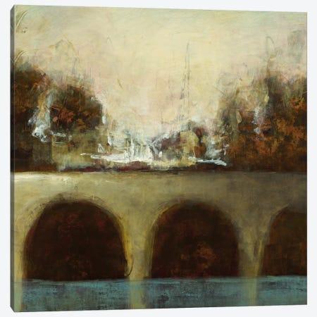 Foggy Bridge II Canvas Print #HIB29} by Randy Hibberd Canvas Wall Art