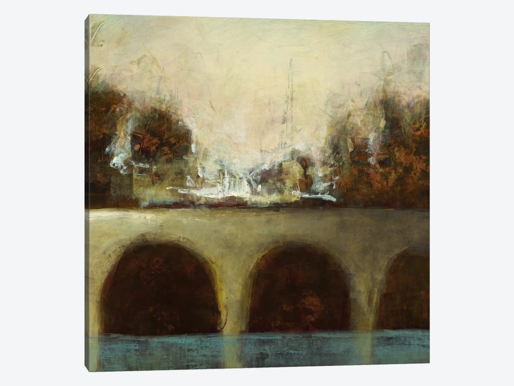 Foggy Bridge II by Randy Hibberd 1-piece Canvas Art Print