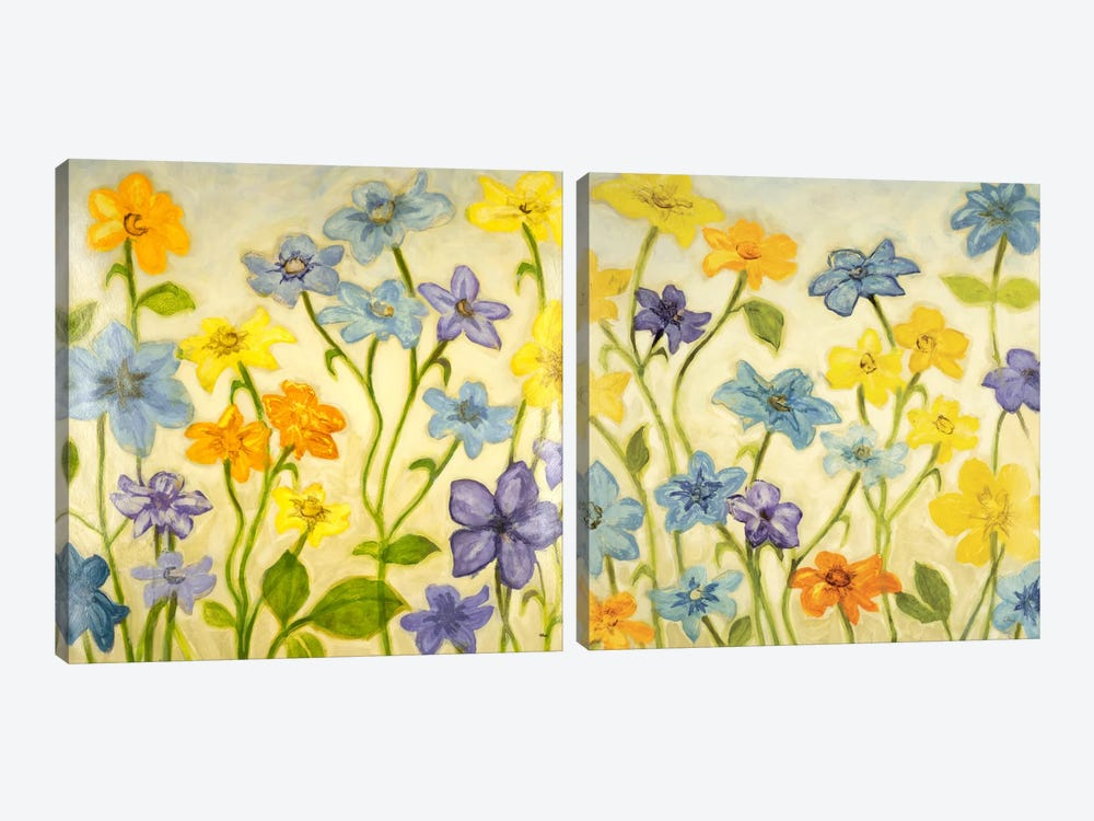 Bloom Diptych by Randy Hibberd 2-piece Canvas Wall Art