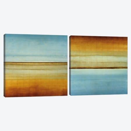 Blue Foam Diptych Canvas Print Set #HIB2HSET002} by Randy Hibberd Canvas Art