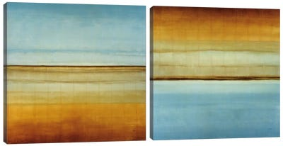 Blue Foam Diptych Canvas Art Print