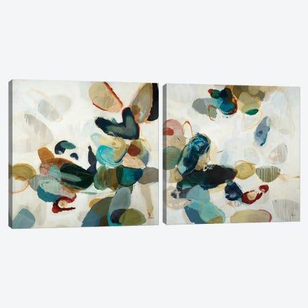 Stone Pattern Diptych Canvas Print Set #HIB2HSET005} by Randy Hibberd Art Print