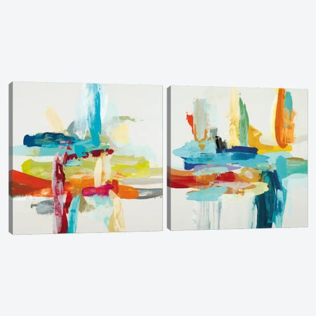 Synergy Diptych Canvas Print Set #HIB2HSET006} by Randy Hibberd Art Print