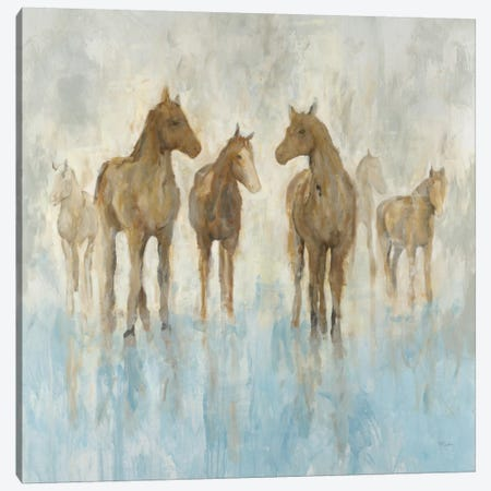 Horses 3-Piece Canvas #HIB35} by Randy Hibberd Canvas Art