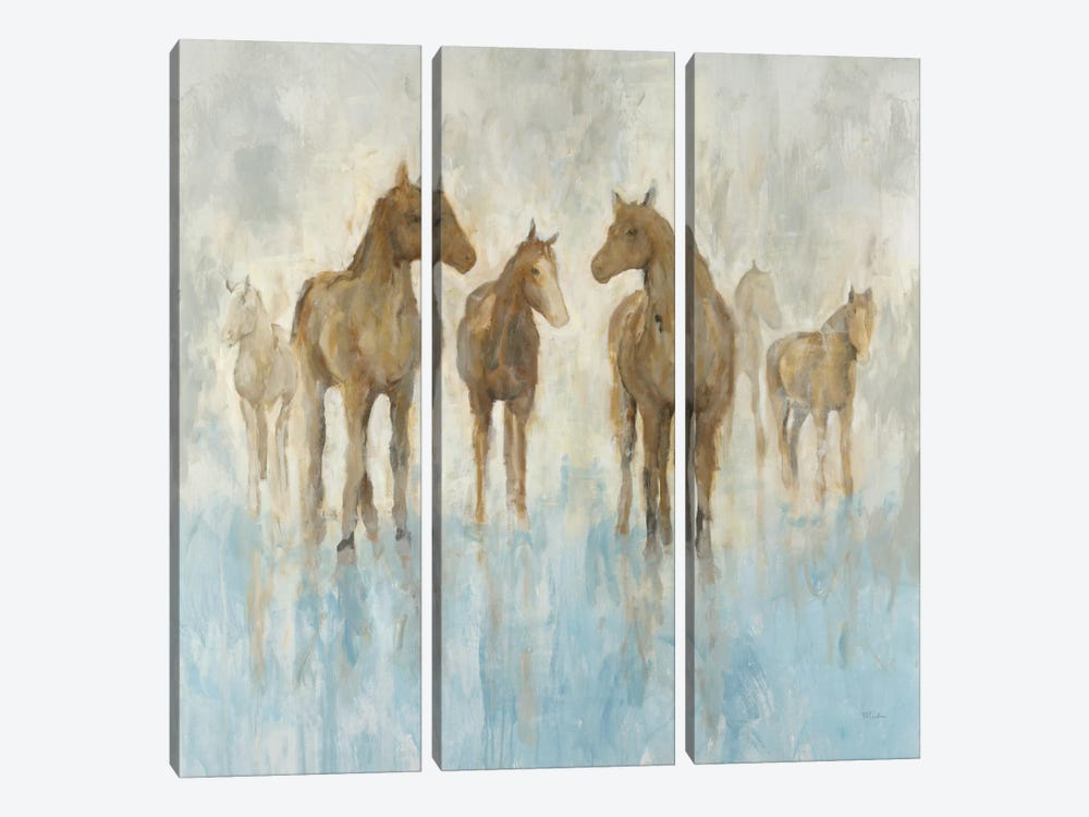 Horses 3-piece Canvas Wall Art