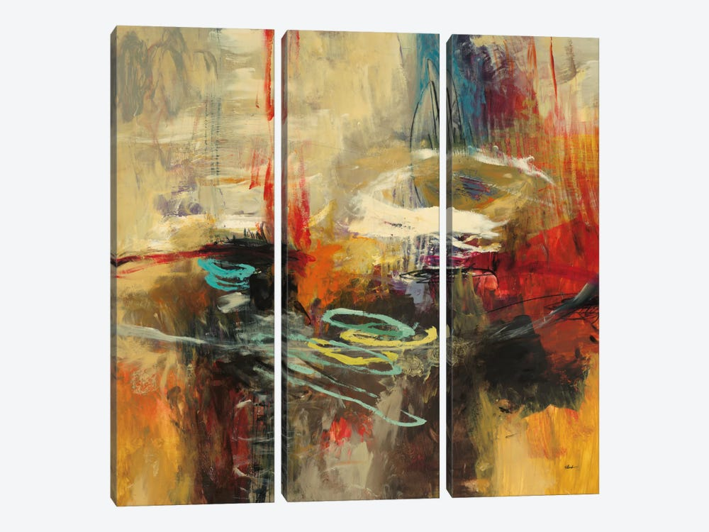 Instinctual Beauty II by Randy Hibberd 3-piece Canvas Wall Art