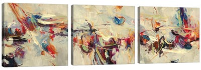 Positive Energy Triptych Canvas Art Print