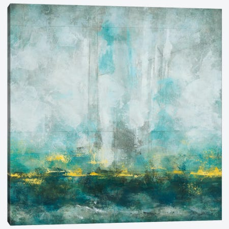 Aqua Blu Canvas Print #HIB5} by Randy Hibberd Canvas Artwork