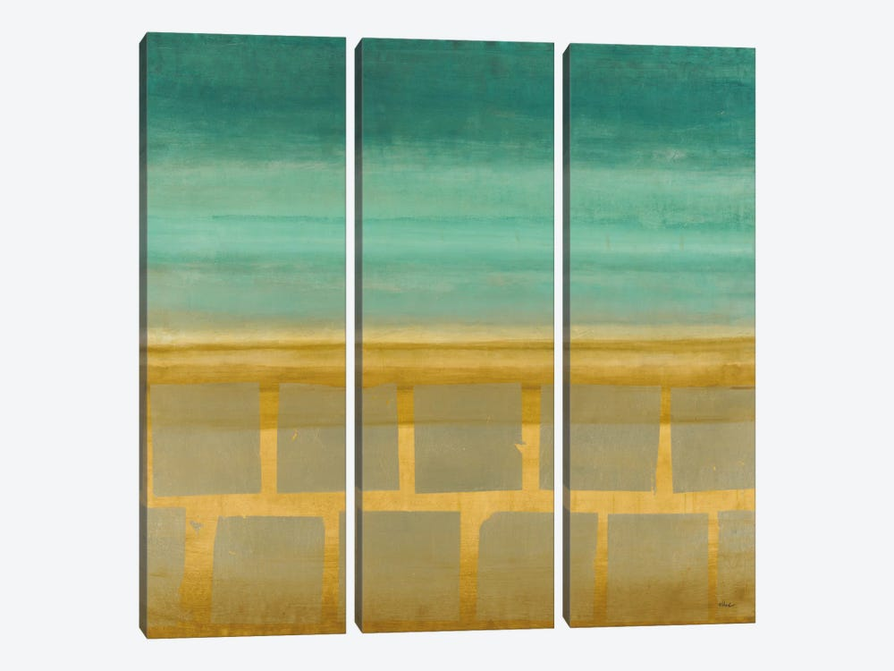 Silver-Leafed Horizon 3-piece Canvas Art Print