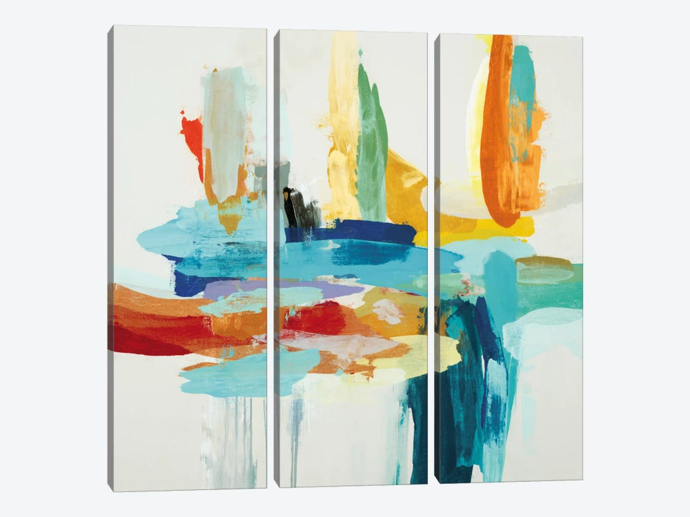 Synergy II by Randy Hibberd 3-piece Canvas Wall Art