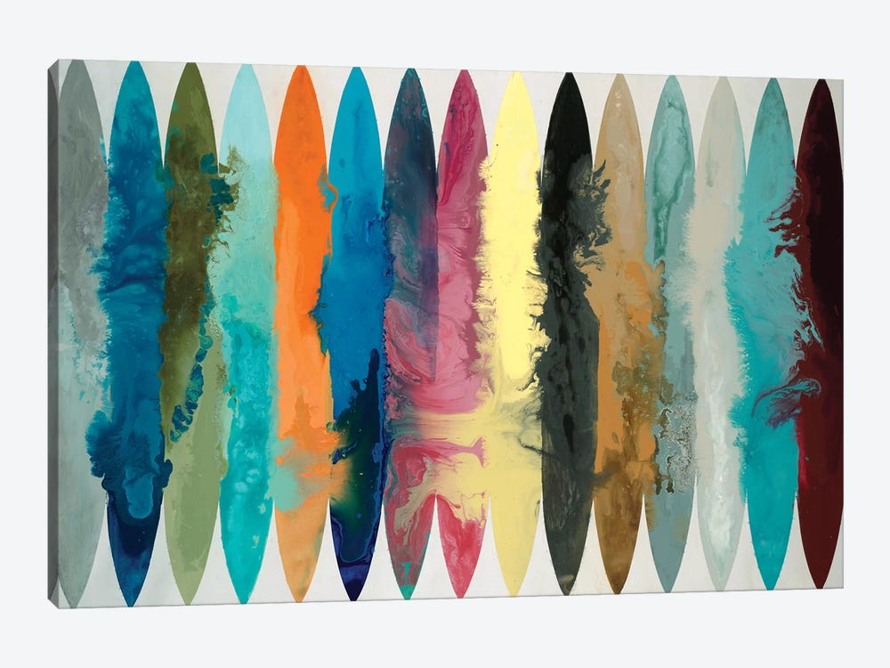 Waves Of Color by Randy Hibberd 1-piece Canvas Artwork