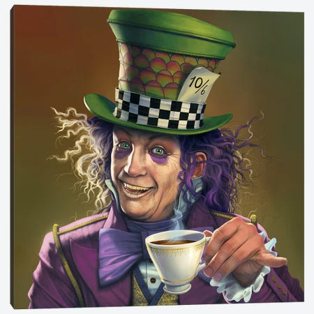 Mad Hatter  Canvas Print #HIE101} by Vincent Hie Canvas Wall Art