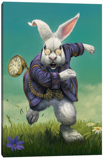 White Rabbit Canvas Art Print