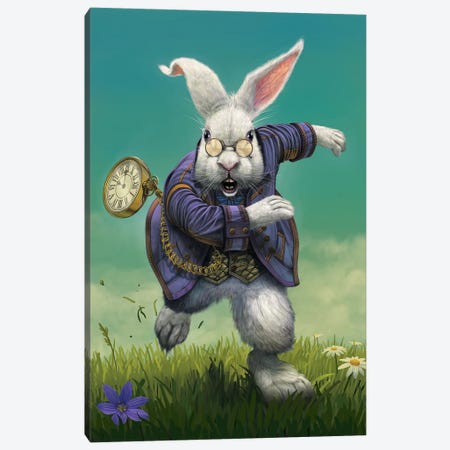 White Rabbit Canvas Print #HIE106} by Vincent Hie Canvas Art Print
