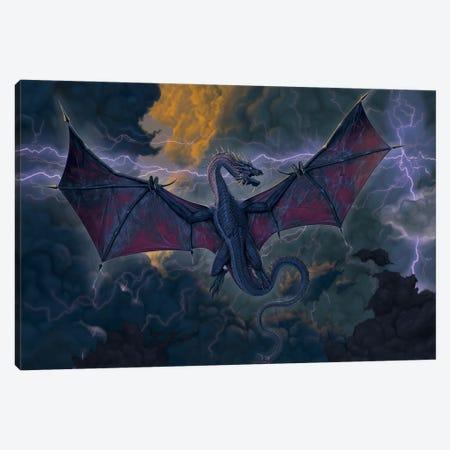 Thunder Dragon Canvas Print #HIE114} by Vincent Hie Canvas Artwork