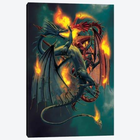 Clash Of The Titans Canvas Print #HIE12} by Vincent Hie Canvas Art