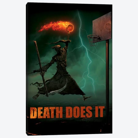 Death Does It Canvas Print #HIE16} by Vincent Hie Canvas Art Print
