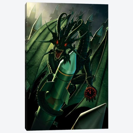 Doom Dragon Canvas Print #HIE19} by Vincent Hie Canvas Artwork