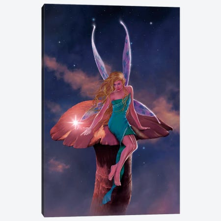 A Fairy's Wish Canvas Print #HIE1} by Vincent Hie Canvas Artwork