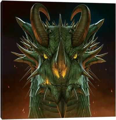 Dragon Portrait Canvas Art Print