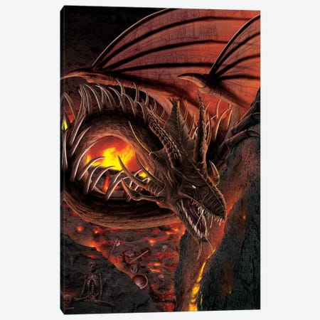 Hellfire Dragon 3-Piece Canvas #HIE27} by Vincent Hie Canvas Wall Art