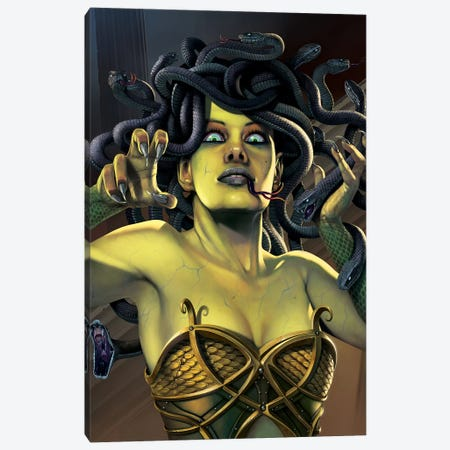 Medusa Canvas Print #HIE29} by Vincent Hie Canvas Print