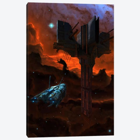 Alien Artifact Canvas Print #HIE2} by Vincent Hie Canvas Wall Art