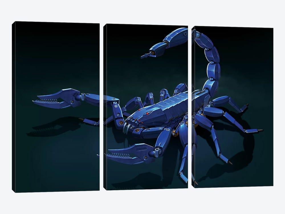 Metal Scorpion by Vincent Hie 3-piece Canvas Print